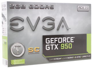 Видеокарта EVGA GeForce GTX 950 SC GAMING [02G-P4-2951-KR]