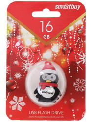 "Память USB Flash Smartbuy X'mas series ""Penguin"" 16 Гб"