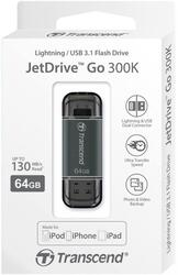 Память OTG USB Flash Transcend JetDrive Go 300  64 Гб