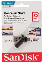 Память OTG USB Flash Sandisk Dual  32 Гб