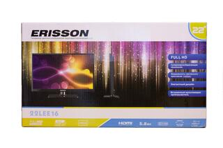 "22"" (55 см)  LED-телевизор Erisson 16LEE16 черный"