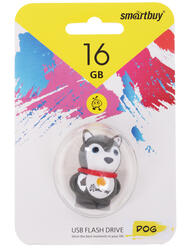 "Память USB Flash Smartbuy Wild Series ""Dog grey"" 16 Гб"