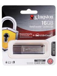 Память USB Flash Kingston DataTraveler Locker+ G3 DTLPG3 16 Гб