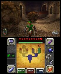 Игра для 3DS The Legend of Zelda: Ocarina of Time (Select)