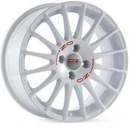 Автомобильный диск Литой OZ Racing Superturismo WRC 7x17 4/108 ET 25 DIA 65,1 White + Red Lettering