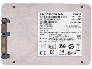 240 Гб SSD-накопитель Intel 730 Series [SSDSC2BP240G4R5]